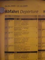Fahrplan Bahn und Bus